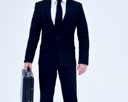 Deluca Tuddenham Clothing Line Season 1 Suit 1A THE CLOSER Black Tie suit id#1A DelucaTuddenham.com