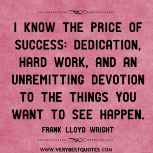 price-of-success-quotes